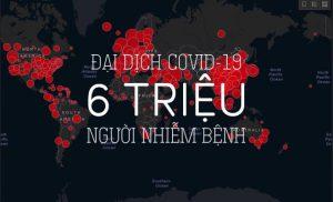 Đại dịch COVID-19: Thế giới vượt mốc 6 triệu người nhiễm bệnh