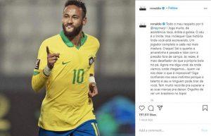 Ronaldo 'Béo': Neymar toàn diện và ngày càng trưởng thành
