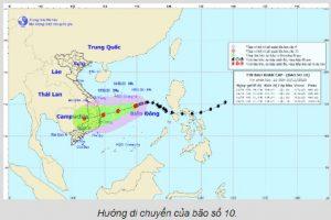 Bão số 10 liên tục thay đổi: Phú Yên – Bình Định lại thành tâm bão?