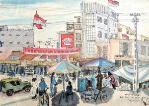 Triển lãm ký họa 'Đà Nẵng những ngày sau giải phóng và hôm nay'
