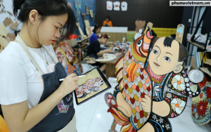 'Thổi' nét hiện đại vào tranh dân gian Đông Hồ, Hàng Trống