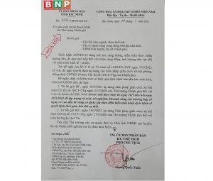 TP Bắc Ninh cách ly xã hội từ 6h00 hôm nay