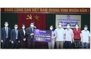 Tập đoàn DANKO trao tặng xe cứu thương và 10.000 bộ kit test nhanh COVID -19 cho tỉnh Thanh Hoá