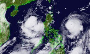 Bão Chanthu tăng cấp nhanh, tương tác với bão số 5 trên Biển Đông