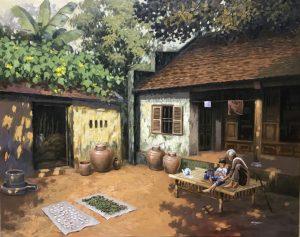 Ký ức làng quê trong tranh