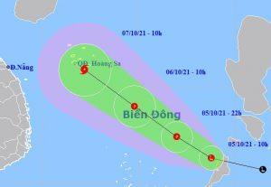 Chiều tối 5/10, vùng áp thấp vào Biển Đông, cảnh báo mưa lớn và bão