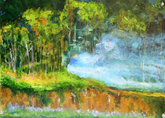 """Triển lãm """"Đi qua mùa thu"""": Một thế giới sắc màu với triết lý nhân sinh và lẽ sống"""