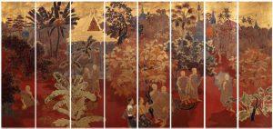 """Giai điệu sơn mài truyền thống trong """"Phong Cảnh Phnôm-Pênh"""" của Lê Quốc Lộc"""
