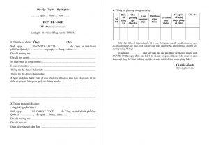 Mẫu đơn xin đón con ở các tỉnh trở lại TP Hồ Chí Minh?